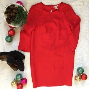 H&M Holiday Red Cutout Back Bubble Cocktail Dress